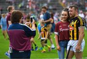 8 July 2018; Richie Hogan of Kilkenny with Galway supporters after the Leinster GAA Hurling Senior Championship Final Replay match between Kilkenny and Galway at Semple Stadium in Thurles, Co Tipperary. Photo by Brendan Moran/Sportsfile