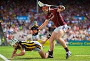 8 July 2018; Jonathan Glynn of Galway in action against Padraig Walsh of Kilkenny during the Leinster GAA Hurling Senior Championship Final Replay match between Kilkenny and Galway at Semple Stadium in Thurles, Co Tipperary. Photo by Brendan Moran/Sportsfile
