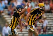 8 July 2018; Ger Aylward of Kilkenny, left, celebrates after scoring his side's first goal during the Leinster GAA Hurling Senior Championship Final Replay match between Kilkenny and Galway at Semple Stadium in Thurles, Co Tipperary. Photo by Brendan Moran/Sportsfile
