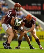 8 July 2018; Padraig Walsh of Kilkenny and Jonathan Glynn and Conor Whelan of Galway contest possession during the Leinster GAA Hurling Senior Championship Final Replay match between Kilkenny and Galway at Semple Stadium in Thurles, Co Tipperary. Photo by Brendan Moran/Sportsfile