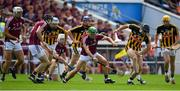 8 July 2018; David Burke of Galway in action against Conor Fogarty of Kilkenny during the Leinster GAA Hurling Senior Championship Final Replay match between Kilkenny and Galway at Semple Stadium in Thurles, Co Tipperary. Photo by Brendan Moran/Sportsfile