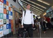 10 July 2018; Georgie Kelly of Dundalk on their arrival into Tallinn Airport ahead of the UEFA Europa League 1st Qualifying Round First Leg match between Levadia Tallinn and Dundalk on Thursday. Photo by Matt Browne/Sportsfile