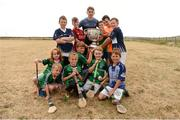 10 July 2018; Michael Fitzsimons of Dublin with members of Aran Islands GAA club during a visit to Aran Islands GAA club prior to the GAA Hurling and Football All Ireland Senior Championship Series National Launch at the Aran Islands, Co Galway. Photo by Diarmuid Greene/Sportsfile