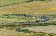 11 July 2018; A general view of the action as the peloton approach Kilkee Cliffs during the Eurocycles Eurobaby Junior Tour of Ireland 2018 Stage Two, Ennis to Kilkee, Co. Clare. Photo by Stephen McMahon/Sportsfile