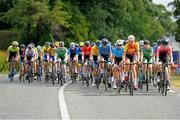 11 July 2018; A general view of the action as the peloton leave Ennis during the Eurocycles Eurobaby Junior Tour of Ireland 2018 Stage Two, Ennis to Kilkee in Co. Clare. Photo by Stephen McMahon/Sportsfile