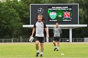 11 July 2018; Dundalk manager Stephen Kenny and first team coach Vinny Perth during team training at the Kadriorg Stadium in Tallinn, Estonia. Photo by Matt Browne/Sportsfile