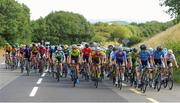 12 July 2018; A general view of the peloton during Stage 3 of the Eurocycles Eurobaby Junior Tour 2018, Ennis, Co. Clare. Photo by Stephen McMahon/Sportsfile