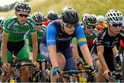 12 July 2018; Peter McConn, Connacht Team, centre, in action during Stage 3 of the Eurocycles Eurobaby Junior Tour 2018, Ennis, Co. Clare. Photo by Stephen McMahon/Sportsfile