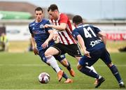 12 July 2018; Conor McDermott of Derry City in action against Uros Nikolic of Dinamo Minsk during the UEFA Europa League 1st Qualifying Round First Leg match between Derry City and Dinamo Minsk at Brandywell Stadium in Derry. Photo by Oliver McVeigh/Sportsfile