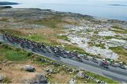 13 July 2018; A general view of the action as the peloton pass through the Burren during the Eurocycles Eurobaby Junior Tour of Ireland 2018 Stage Four, Ennis to Ballyvaughan. Photo by Stephen McMahon/Sportsfile