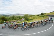 13 July 2018; A general view of the action on the category one climb of Corkscrew Hill during the Eurocycles Eurobaby Junior Tour of Ireland 2018 Stage Four, Ennis to Ballyvaughan. Photo by Stephen McMahon/Sportsfile