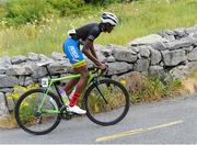 12 July 2018; Qhawe Mdluli of South Africa in action on the category one climb of Corkscrew Hill during the Eurocycles Eurobaby Junior Tour of Ireland 2018 Stage Four, Ennis to Ballyvaughan. Photo by Stephen McMahon/Sportsfile