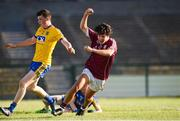 13 July 2018; Eoghan Tinney of Galway celebrates after scoring his side's first goal during the Electric Ireland Connacht GAA Minor Championship Final match between Roscommon and Galway at Dr Hyde Park in Roscommon. Photo by Matt Browne/Sportsfile