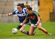 14 July 2018; Emma Lowther of Mayo in action against Sinead Greene of Cavan during the TG4 All-Ireland Ladies Football Senior Championship Group 4 Round 1 match between Cavan and Mayo at St Tiernach's Park, in Clones, Monaghan. Photo by Oliver McVeigh/Sportsfile