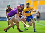 14 July 2018; Tony Kelly of Clare in action against Paudie Foley of Wexford during the GAA Hurling All-Ireland Senior Championship Quarter-Final match between Clare and Wexford at Páirc Ui Chaoimh in Cork. Photo by Brendan Moran/Sportsfile