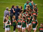 14 July 2018; The Mayo team celebrate with fans after the TG4 All-Ireland Ladies Football Senior Championship Group 4 Round 1 match between Cavan and Mayo at St Tiernach's Park, in Clones, Monaghan. Photo by Oliver McVeigh/Sportsfile