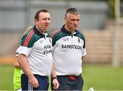 14 July 2018; Mayo manager Peter Leahy, right, and selector Michael Reynolds during the TG4 All-Ireland Ladies Football Senior Championship Group 4 Round 1 match between Cavan and Mayo at St Tiernach's Park, in Clones, Monaghan. Photo by Oliver McVeigh/Sportsfile