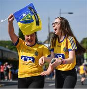 14 July 2018; Roscommon supporters arrive prior to the GAA Football All-Ireland Senior Championship Quarter-Final Group 2 Phase 1 match between Tyrone and Roscommon at Croke Park, in Dublin. Photo by David Fitzgerald/Sportsfile