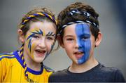 14 July 2018; Roscommon supporters Leah Flynn, age 9, and Caolan O'Kelligh, age 7, prior to the GAA Football All-Ireland Senior Championship Quarter-Final Group 2 Phase 1 match between Tyrone and Roscommon at Croke Park, in Dublin. Photo by David Fitzgerald/Sportsfile