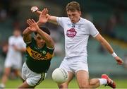 14 July 2018; Brian McLoughlin of Kildare in action Stefan Okunbor of Kerry during the EirGrid GAA Football All-Ireland U20 Championship Semi-Final match between Kildare and Kerry at the Gaelic Grounds, Limerick. Photo by Ray Ryan/Sportsfile
