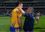 14 July 2018; Wexford manager Davy Fitzgerald, right, congratulated Conor Cleary of Clare after the GAA Hurling All-Ireland Senior Championship Quarter-Final match between Clare and Wexford at Páirc Ui Chaoimh in Cork. Photo by Brendan Moran/Sportsfile