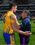 14 July 2018; Wexford manager Davy Fitzgerald congratulates Conor Cleary of Clare after the GAA Hurling All-Ireland Senior Championship Quarter-Final match between Clare and Wexford at Páirc Ui Chaoimh in Cork. Photo by Brendan Moran/Sportsfile