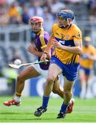 14 July 2018; David McInerney of Clare in action against Lee Chin of Wexford during the GAA Hurling All-Ireland Senior Championship Quarter-Final match between Clare and Wexford at Páirc Ui Chaoimh in Cork. Photo by Brendan Moran/Sportsfile