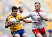 14 July 2018; Ciarain Murtagh of Roscommon in action against Frank Burns of Tyrone during the GAA Football All-Ireland Senior Championship Quarter-Final Group 2 Phase 1 match between Tyrone and Roscommon at Croke Park, in Dublin. Photo by David Fitzgerald/Sportsfile