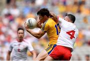 14 July 2018; Diarmuid Murtagh of Roscommon in action against Cathal McCarron of Tyrone during the GAA Football All-Ireland Senior Championship Quarter-Final Group 2 Phase 1 match between Tyrone and Roscommon at Croke Park, in Dublin. Photo by David Fitzgerald/Sportsfile