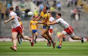 14 July 2018; Enda Smith of Roscommon in action against Pádraig Hampsey of Tyrone during the GAA Football All-Ireland Senior Championship Quarter-Final Group 2 Phase 1 match between Tyrone and Roscommon at Croke Park, in Dublin. Photo by David Fitzgerald/Sportsfile