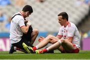 14 July 2018; Colm Cavanagh of Tyrone receives medical attention during the GAA Football All-Ireland Senior Championship Quarter-Final Group 2 Phase 1 match between Tyrone and Roscommon at Croke Park, in Dublin. Photo by David Fitzgerald/Sportsfile