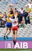 14 July 2018; Diarmuid Murtagh of Roscommon competes for a high ball with Cathal McCarron of Tyrone during the GAA Football All-Ireland Senior Championship Quarter-Final Group 2 Phase 1 match between Tyrone and Roscommon at Croke Park, in Dublin. Photo by David Fitzgerald/Sportsfile