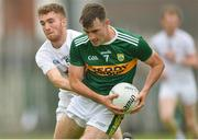 14 July 2018; Daniel O'Brien of Kerry in action against Stephen Comerford of Kildare during the EirGrid GAA Football All-Ireland U20 Championship Semi-Final match between Kildare and Kerry at the Gaelic Grounds, Limerick. Photo by Ray Ryan/Sportsfile