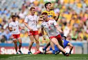 14 July 2018; Conor Myler of Tyrone celebrates after scoring his side's second goal during the GAA Football All-Ireland Senior Championship Quarter-Final Group 2 Phase 1 match between Tyrone and Roscommon at Croke Park, in Dublin. Photo by David Fitzgerald/Sportsfile