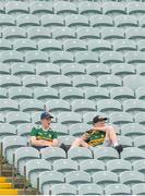 14 July 2018; Brothers Donnacha and Brian Daly from Kerry prior to the EirGrid GAA Football All-Ireland U20 Championship Semi-Final match between Kildare and Kerry at the Gaelic Grounds, Limerick. Photo by Ray Ryan/Sportsfile