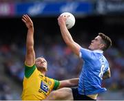 14 July 2018; Brian Fenton of Dublin in action against Michael Murphy of Donegal during the GAA Football All-Ireland Senior Championship Quarter-Final Group 2 Phase 1 match between Dublin and Donegal at Croke Park in Dublin. Photo by Ray McManus/Sportsfile