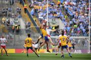 14 July 2018; Ciarain Murtagh and Enda Smith of Roscommon in action against Declan McClure of Tyrone  during the GAA Football All-Ireland Senior Championship Quarter-Final Group 2 Phase 1 match between Tyrone and Roscommon at Croke Park, in Dublin. Photo by David Fitzgerald/Sportsfile