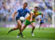 14 July 2018; Paul Mannion of Dublin in action against Eoghan Bán Gallagher of Donegal during the GAA Football All-Ireland Senior Championship Quarter-Final Group 2 Phase 1 match between Dublin and Donegal at Croke Park, in Dublin. Photo by David Fitzgerald/Sportsfile