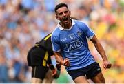 14 July 2018; Niall Scully of Dublin celebrates after scoring his side's first goal during the GAA Football All-Ireland Senior Championship Quarter-Final Group 2 Phase 1 match between Dublin and Donegal at Croke Park, in Dublin. Photo by David Fitzgerald/Sportsfile