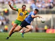 14 July 2018; Brian Howard of Dublin in action against Michael Murphy of Donegal during the GAA Football All-Ireland Senior Championship Quarter-Final Group 2 Phase 1 match between Dublin and Donegal at Croke Park, in Dublin. Photo by David Fitzgerald/Sportsfile