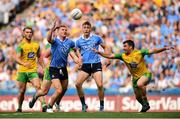 14 July 2018; Ciarán Kilkenny of Dublin in action against Paddy McGrath of Donegal during the GAA Football All-Ireland Senior Championship Quarter-Final Group 2 Phase 1 match between Dublin and Donegal at Croke Park, in Dublin. Photo by David Fitzgerald/Sportsfile