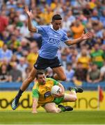 14 July 2018; Paddy McGrath of Donegal in action against Niall Scully of Dublin during the GAA Football All-Ireland Senior Championship Quarter-Final Group 2 Phase 1 match between Dublin and Donegal at Croke Park in Dublin.  Photo by Ray McManus/Sportsfile