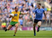 14 July 2018; Michael Murphy of Donegal in action against Brian Fenton of Dublin during the GAA Football All-Ireland Senior Championship Quarter-Final Group 2 Phase 1 match between Dublin and Donegal at Croke Park, in Dublin. Photo by David Fitzgerald/Sportsfile