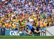 14 July 2018; Paul Brennan of Donegal in action against Paul Mannion of Dublin during the GAA Football All-Ireland Senior Championship Quarter-Final Group 2 Phase 1 match between Dublin and Donegal at Croke Park, in Dublin. Photo by David Fitzgerald/Sportsfile