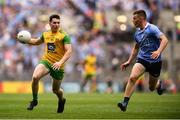 14 July 2018; Jamie Brennan of Donegal in action against Con O'Callaghan of Dublin during the GAA Football All-Ireland Senior Championship Quarter-Final Group 2 Phase 1 match between Dublin and Donegal at Croke Park, in Dublin. Photo by David Fitzgerald/Sportsfile