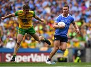 14 July 2018; Ciarán Kilkenny of Dublin in action against Hugh McFadden of Donegal during the GAA Football All-Ireland Senior Championship Quarter-Final Group 2 Phase 1 match between Dublin and Donegal at Croke Park in Dublin. Photo by David Fitzgerald/Sportsfile