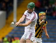 15 July 2018; Paddy Rabbitte of Galway in action against Ciarán Brennan of Kilkenny during the Electric Ireland GAA Hurling All-Ireland Minor Championship match between Galway and Kilkenny at Semple Stadium, Thurles, Co Tipperary. Photo by Ray McManus/Sportsfile