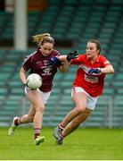 15 July 2018; Andrea Trill of Galway in action against Clare O'Shea of Cork during the All-Ireland Ladies Football Minor A final between Galway and Cork at the Gaelic Grounds, Limerick. Photo by Diarmuid Greene/Sportsfile