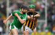 15 July 2018; Graeme Mulcahy of Limerick in action against Paul Murphy of Kilkenny during the GAA Hurling All-Ireland Senior Championship Quarter-Final match between Kilkenny and Limerick at Semple Stadium, Thurles, Co Tipperary. Photo by Ray McManus/Sportsfile