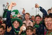 15 July 2018; Cian Lynch of Limerick with supporters after the GAA Hurling All-Ireland Senior Championship Quarter-Final match between Kilkenny and Limerick at Semple Stadium, Thurles, Co Tipperary. Photo by Ray McManus/Sportsfile